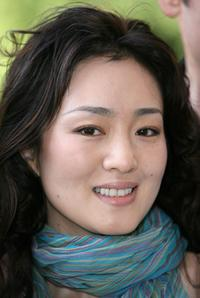 Gong Li at the promotion of