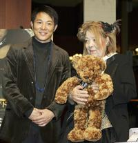 Jet Li and Ingrid Fujiko Hemming at the press conference to promote the film