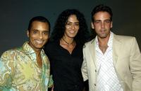 Jon Secada, Janu Tornell and Carlos Ponce at the Golden Dads Awards ceremony.