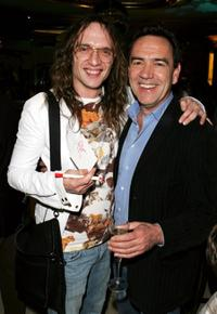 Justin Hawkins and Robert Lindsay at the after party of the UK premiere of