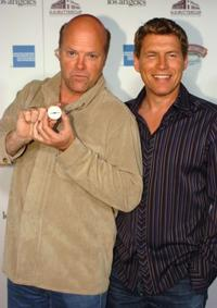 Rex Linn and Chris Breed at the H.D. Buttercup Grand Opening Celebrity Treasure Hunt..