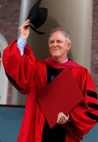 John Lithgow at the the Harvard University Commencement exercises.