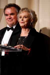 June Lockhart and Guest at the 40th Annual Academy of Magical Arts Awards.