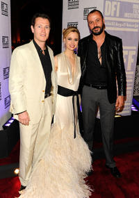 Nick Moran, Executive Director of the Doha Tribeca Film Festival Amanda Palmer and Ali Suliman at the premiere of