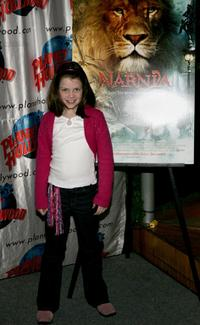 Georgie Henley at the Planet Hollywood.