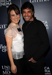 Kate del Castillo and Eugenio Derbez at the screening of