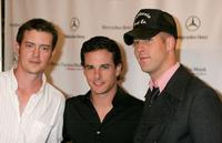 Jason London, Michael Cade and Michael Bellasano at the Mercedes-Benz Fashion Week.