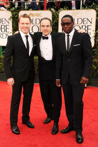 Diego Klattenhoff, Mandy Patinkin and David Harewood at the 69th Annual Golden Globe Awards.