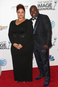 Tamela Mann and David Mann at the 44th NAACP Image Awards in California.