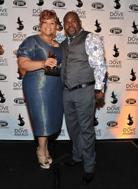 Tamela Mann and David Mann at the 42nd Annual GMA Dove Awards.