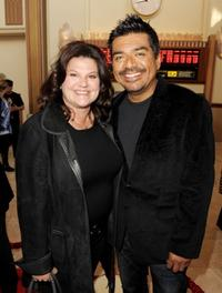 Ann Lopez and George Lopez at the California premiere of