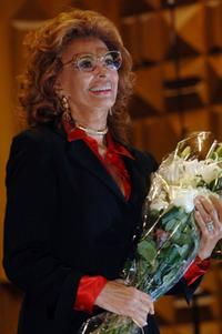 Sophia Loren as she receives the Provincia Capitale prize at the 135th Anniversary of Rome's Province.