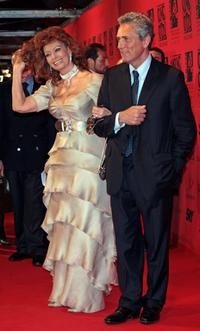 Sophia Loren and Francesco Rutelliat at the 70 years of Cinecitta Studios Party.