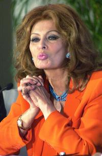 Sophia Loren at Annual International Film Festival.