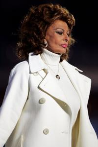 Sophia Loren at the Opening Ceremony of the Turin 2006 Winter Olympic Games.