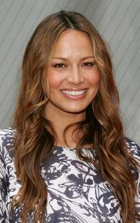 Moon Bloodgood at the NBC Upfronts.