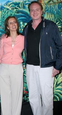 Mireille Soria and Tom McGrath at the premiere of