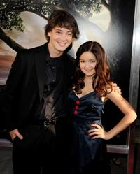 Isreal Broussard and Ariel Winter at the premiere of