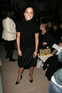 Alice Braga at the Carlos Miele Fall 2007 fashion show during Mercedes-Benz Fashion Week in N.Y.