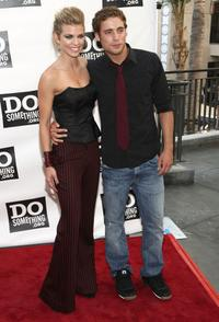 Anna Lynne McCord and Dustin Milligan at the Do Something Awards and official pre-party of 2008 Teen Choice Awards.
