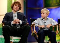 Dustin Milligan and Nathan Gamble at the 2006 Summer Television Critics Association Press Tour.