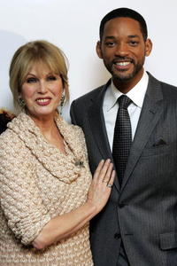 Joanna Lumley and actor Will Smith at the charity lunch in aid of The Prince's Trust.