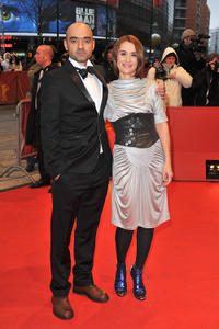 Producer Florin Serban and Clara Voda at the Berlin premiere of