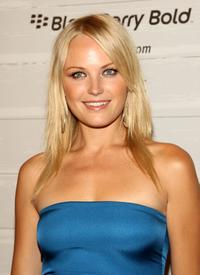 Malin Akerman at the William Rast Spring 2009 fashion show during the Mercedes-Benz Fashion Week.