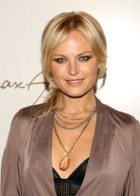 Malin Akerman at the Max Azria Spring 2009 fashion show during the Mercedes-Benz Fashion Week.