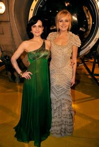 Carla Gugino and Malin Akerman at the premiere of