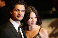 Actors Steven Strait and Lynn Collins at the Berlin premiere of