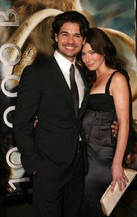 Steven Strait and his wife Lynn Collins at the premiere of