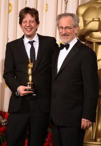 Christian Colson and director Steven Spielberg at the press room during the 81st Annual Academy Awards.