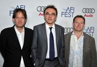 Christian Colson, director Danny Boyle and writer Simon Beaufoy at the 2008 AFI Fest Tribute To Danny Boyle.