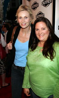 Jane Lynch and Lisa Thrasher at the 23rd Annual Los Angeles Gay and Lesbian Film Festival.