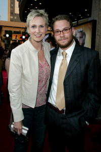 Jane Lynch and Seth Rogen at the premiere of