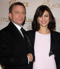 Daniel Craig and Olga Kurylenko at the Paris premiere of