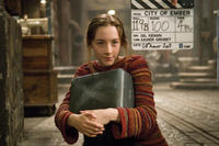 Saoirse Ronan on the set of