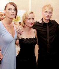 Stana Katic, Radha Mitchell and Toby Hemingway at the premiere of