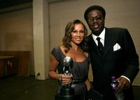 Vanessa Williams and Bernie Mac at the 38th Annual NAACP Image Awards.