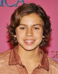 Jake T. Austin at the Miley Cyrus'