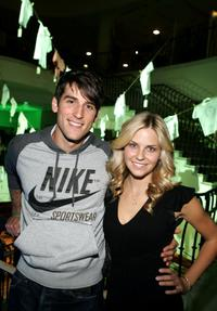 Jonathan Chase and Nikki Griffin at the Lacoste and Barneys New York unveiling of celebrity customized polos.