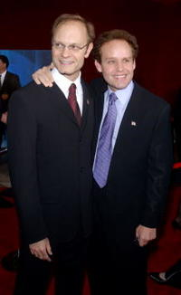 Peter MacNicol and and David Hyde Pierce at the 53rd Annual Primetime Emmy Awards.