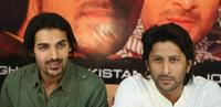 John Abraham and Arshad Warsi at the press conference of