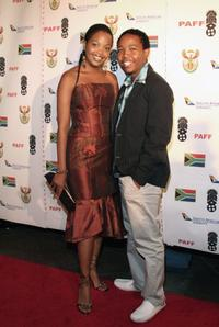 Terry Pheto and Presley Chweneyagae at the 14th Annual Pan African Film Fest Opening Night Gala.