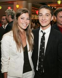 Peyton List and Shia LaBeouf at the after party of the premiere of