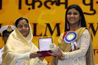 Pratibha Patil and Konkona Sen Sharma at the 54th National Film Awards.