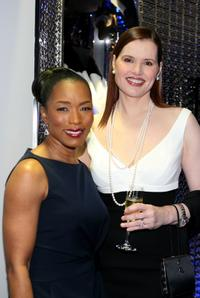 Angela Bassett and Geena Davis at the ESCADA Grand-Reopening.