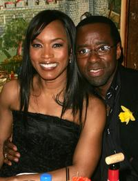 Angela Bassett and Courtney B. Vance at the Entertainment Weekly Academy Awards viewing party.