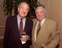 Karl Malden and Ernest Borgnine at the reception of Ronald Neame 90th Birthday.